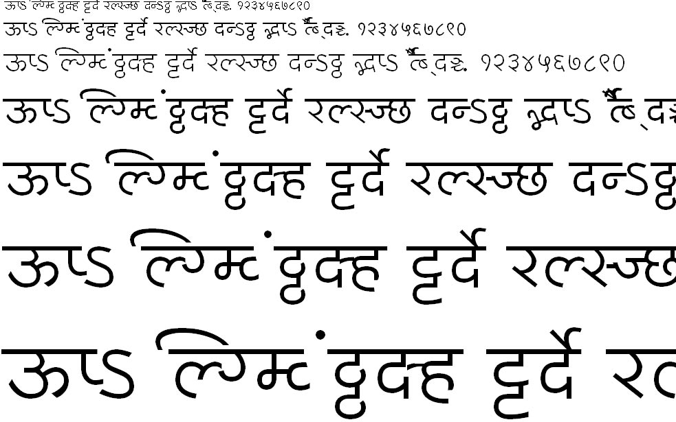 MillenniumPooja Normal Hindi Font