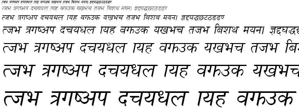 Nagarik Normal Italic Hindi Font