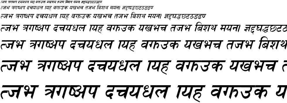 Nagarik Bold Italic Hindi Font