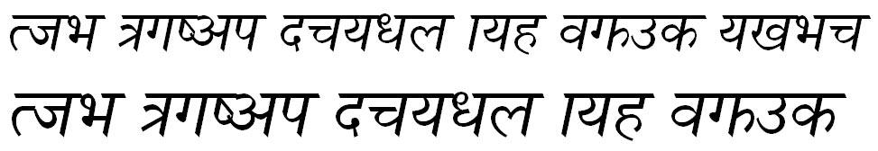 Nagarik Italic Hindi Font