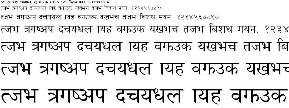 NagarikNUM Hindi Font