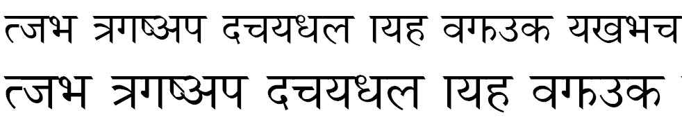 NagarikR Hindi Font