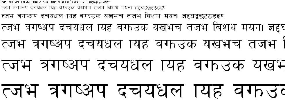 Nepal Hindi Font