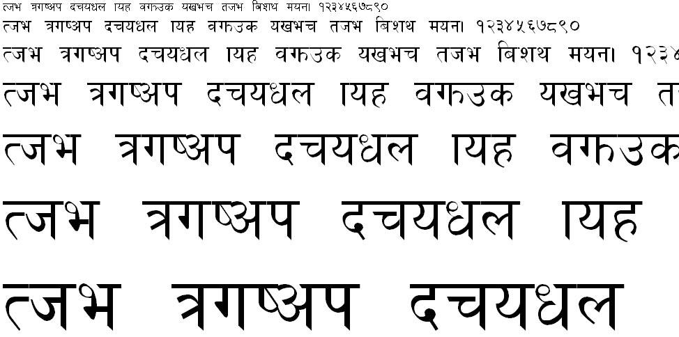 Nepali Normal Hindi Font