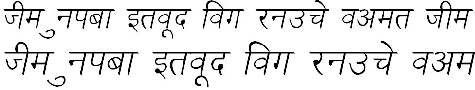 NewDelhi Italic Hindi Font