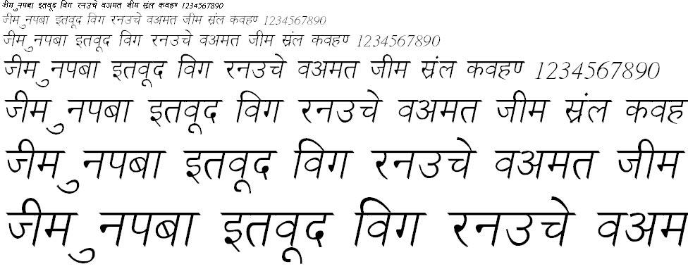NewDelhi Italic Hindi Font