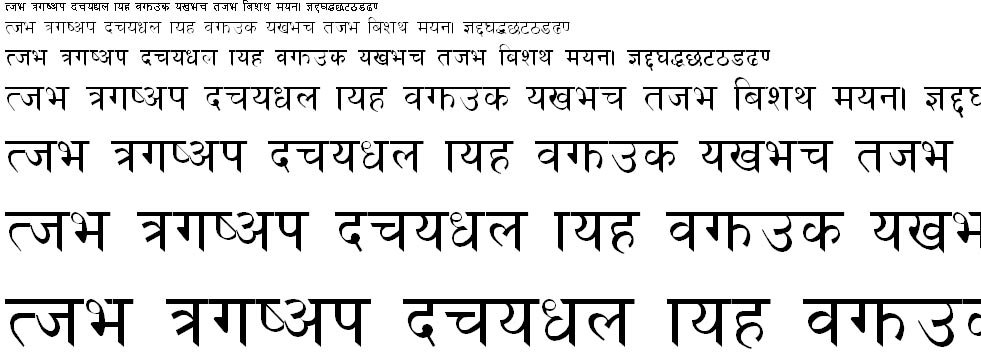 Preeti Hindi Font