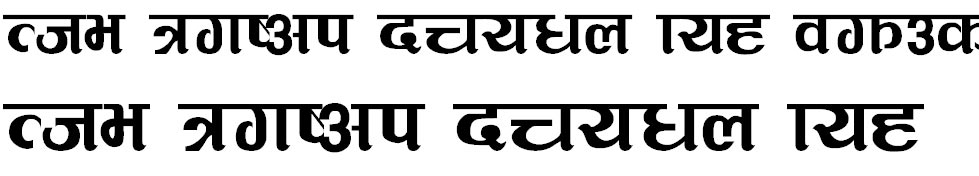 Rangila Hindi Font