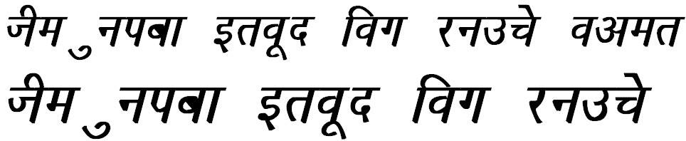Richa Bold Italic Hindi Font
