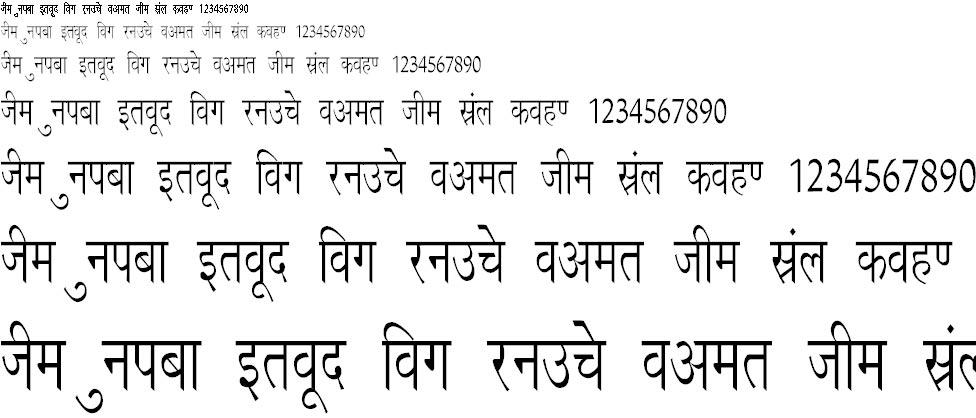 Richa Condensed Hindi Font