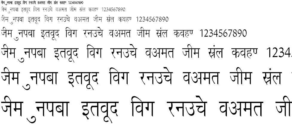 Richa Thin Hindi Font
