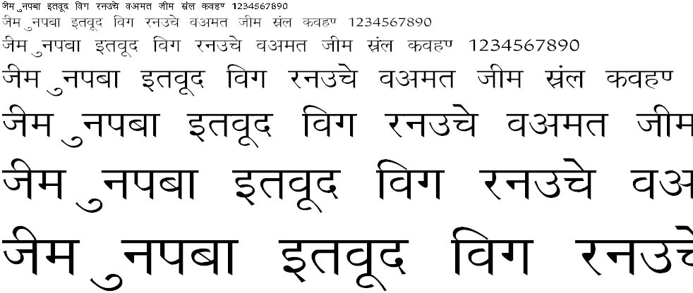 Richa Wide Hindi Font
