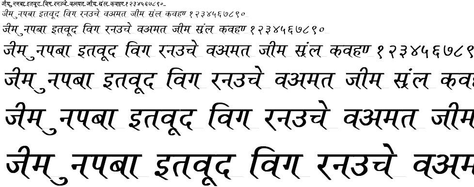 Ruchi Normal Bold Italic Hindi Font