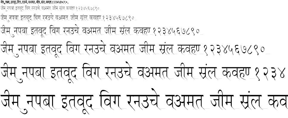 Ruchi Normal Condensed Hindi Font
