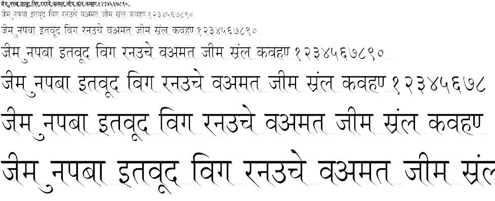 Ruchi Normal Thin Hindi Font