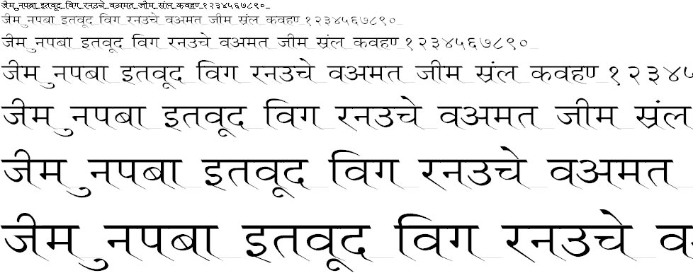 Ruchi Normal Wide Hindi Font