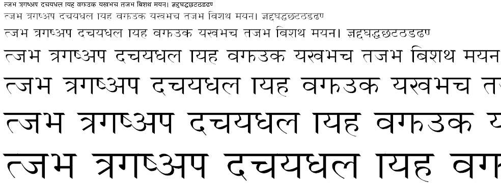 Unnisha Hindi Font