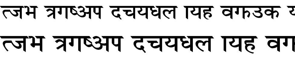 Unnisha Bold Hindi Font