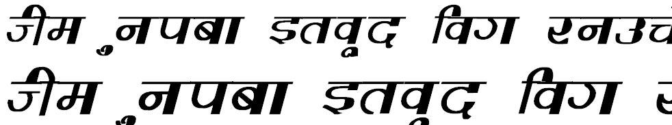 Varsha Bold Italic Hindi Font