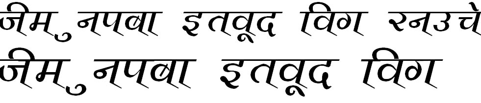 Vimal Hindi Font