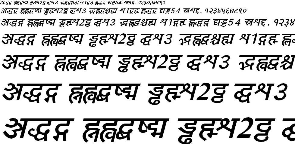 Yogeshweb Bold Italic Hindi Font