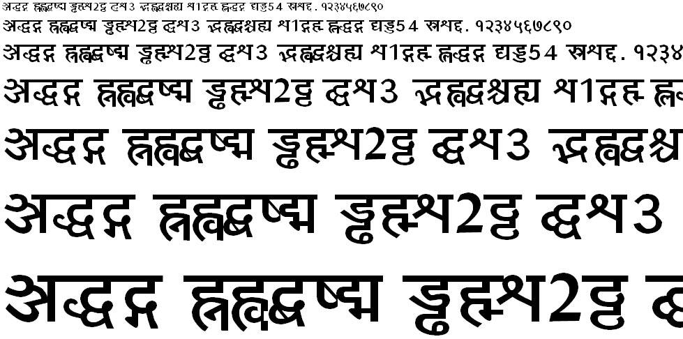 Yogeshweb Bold Hindi Font