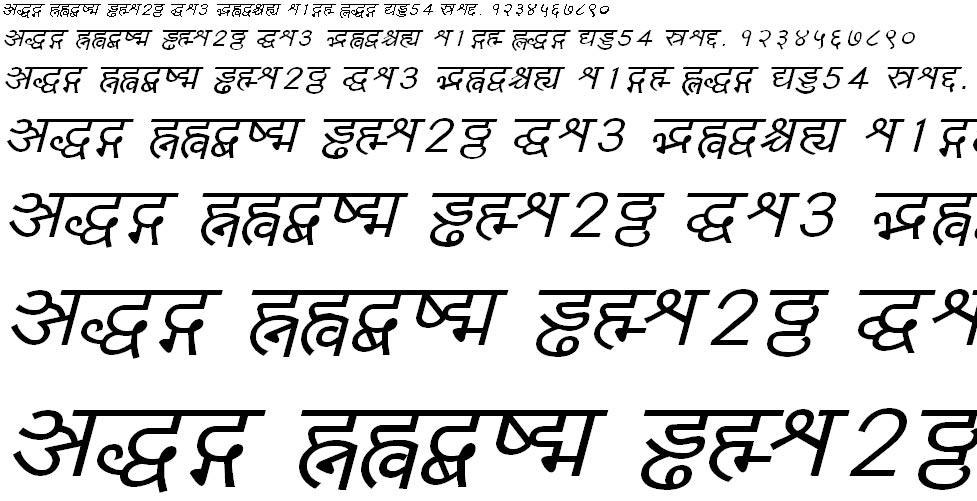 Yogeshweb Italic Hindi Font