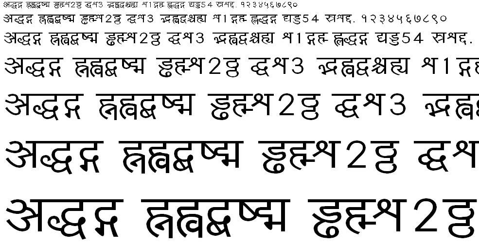 Yogeshweb Hindi Font