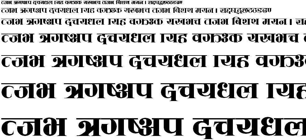 Sadhana Hindi Font