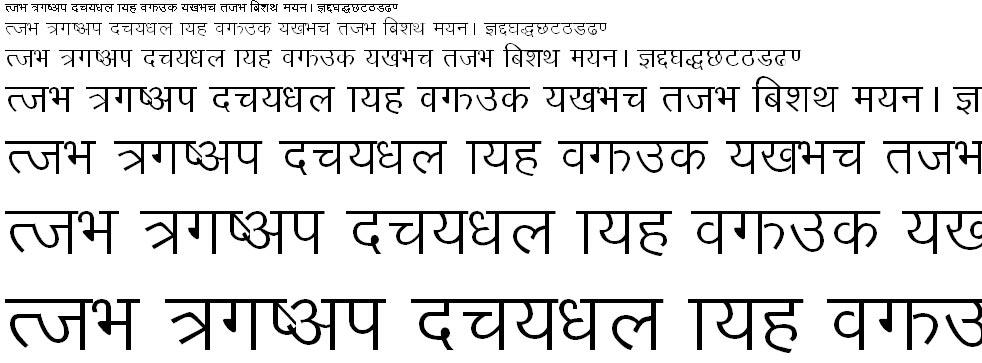 Sagarmatha Hindi Font