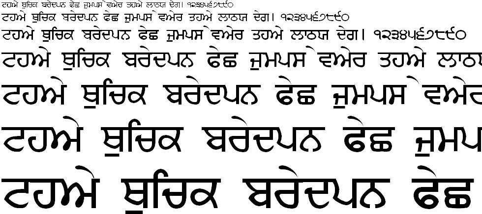 Sandhu01 Hindi Font