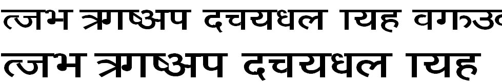 Sangita Sunil Hindi Font