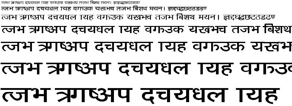Sangita Sunil Hindi Font