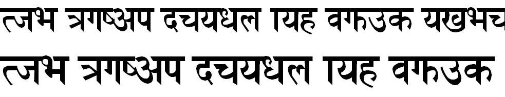 SCiHeadings Hindi Font