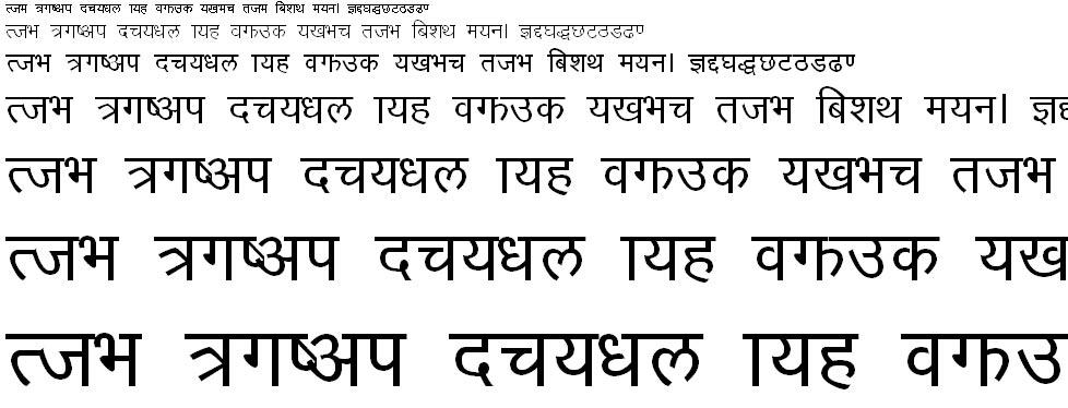 Shreenath Bold Hindi Font
