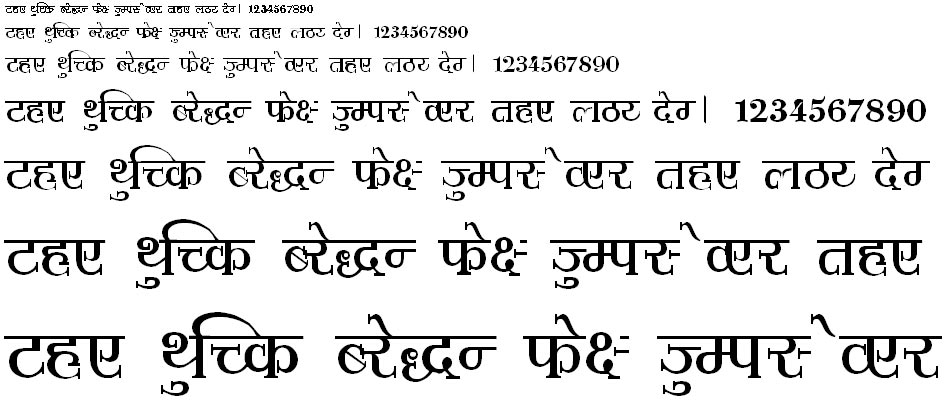 Shusha02 Hindi Font