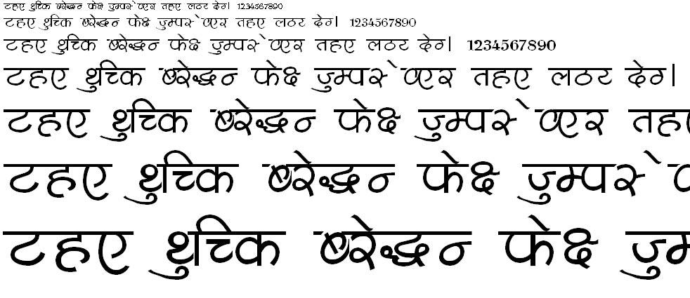 Shusha05 Hindi Font