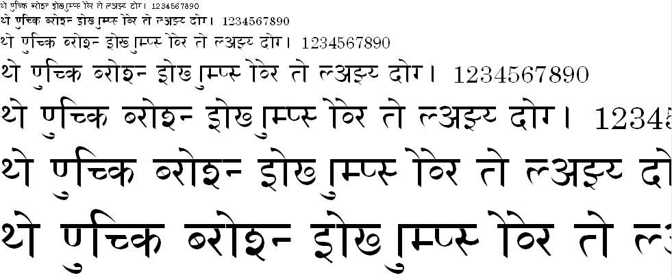 Dadar Hindi Font