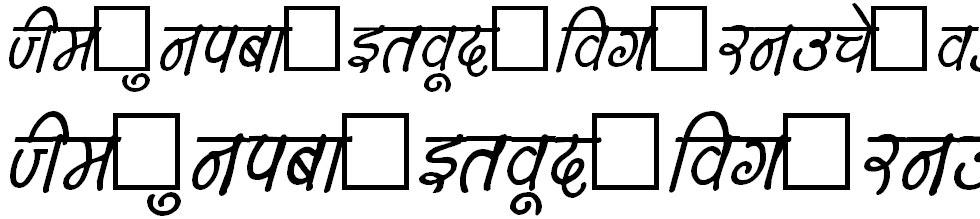 DevLys150 Bold Italic Hindi Font