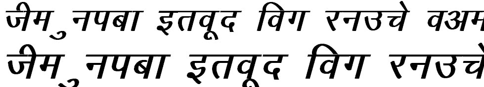 DevLys 010 Italic Hindi Font