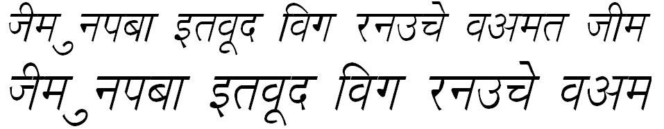 DevLys 020 Italic Hindi Font