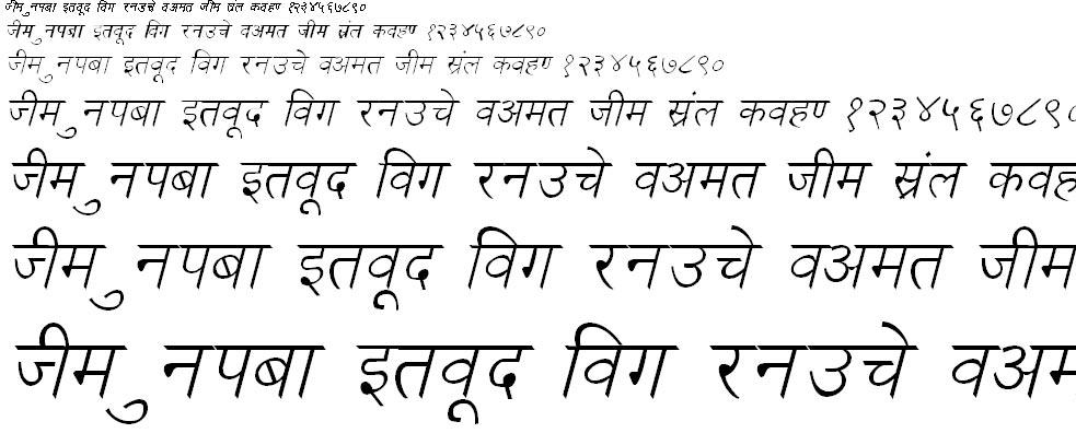 DevLys 030 Italic Hindi Font