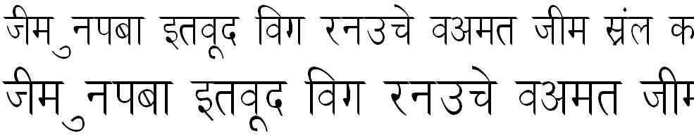 DevLys 030 Thin Hindi Font