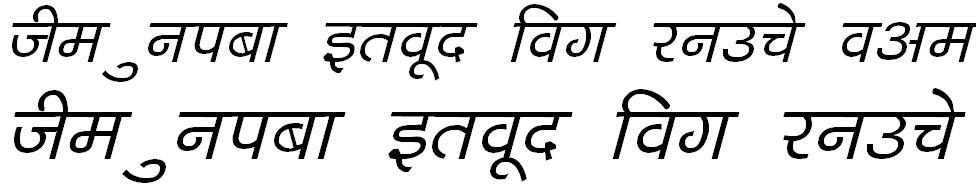 DevLys 040 Italic Hindi Font