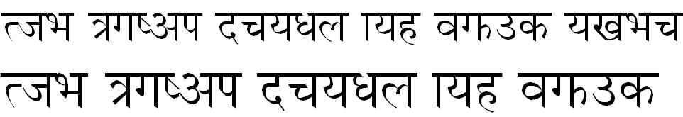 Dina-B Hindi Font