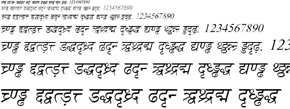 DV TTSurekhEN Italic Hindi Font
