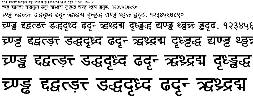 DV TTYogesh Bold Hindi Font