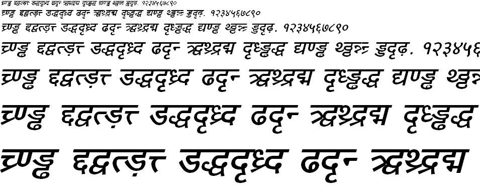 DV TTYogesh Bold Italic Hindi Font