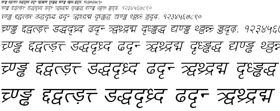 DV TTYogesh Italic Hindi Font