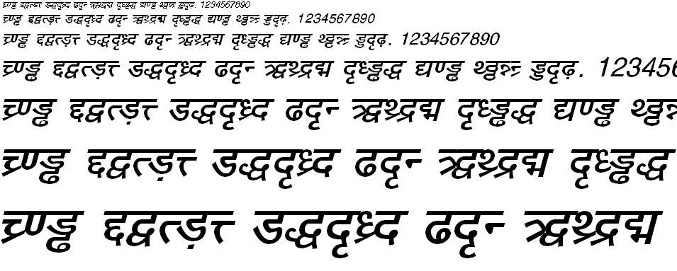 DV TTYogeshEN Bold Italic Hindi Font